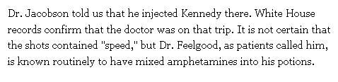 JFK amfetamin injektion 2