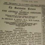 1902 Goulstonian Lectures, The Lancet 1902,