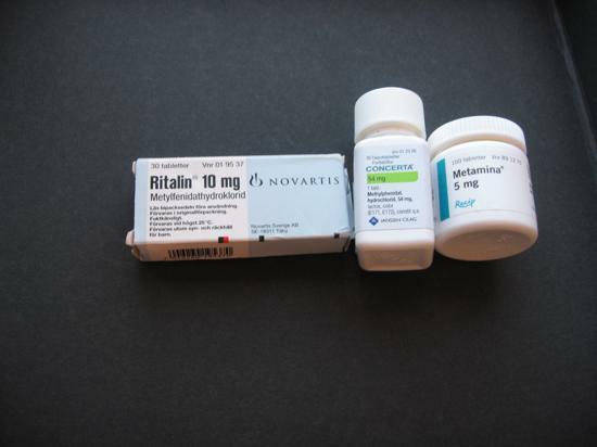 Mediciner med metylfenidat hydroklorid vid adhd
